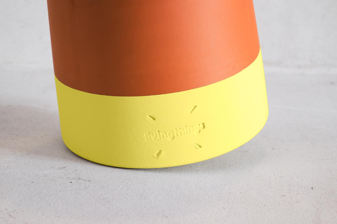 ROLLING FLOWER POT Voltasol Medium Yellow