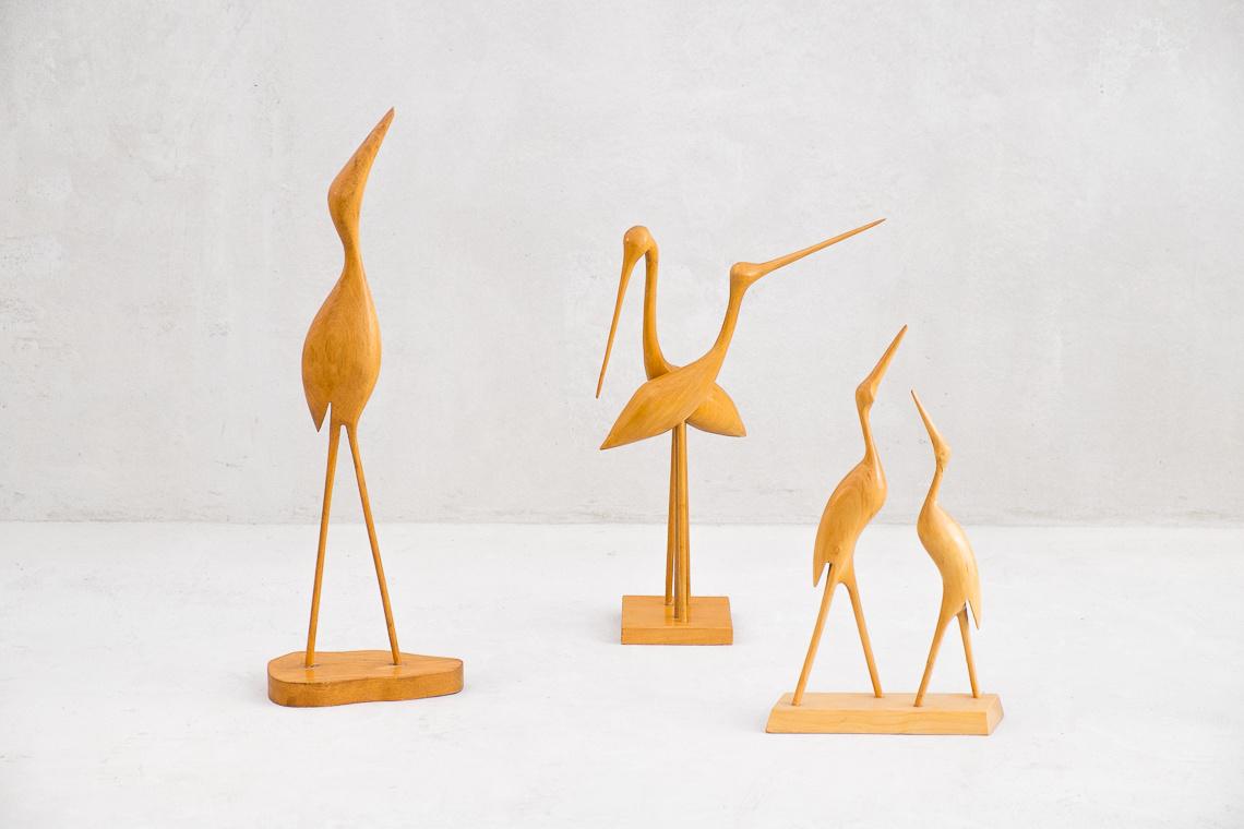 Crane Wood Sculpture