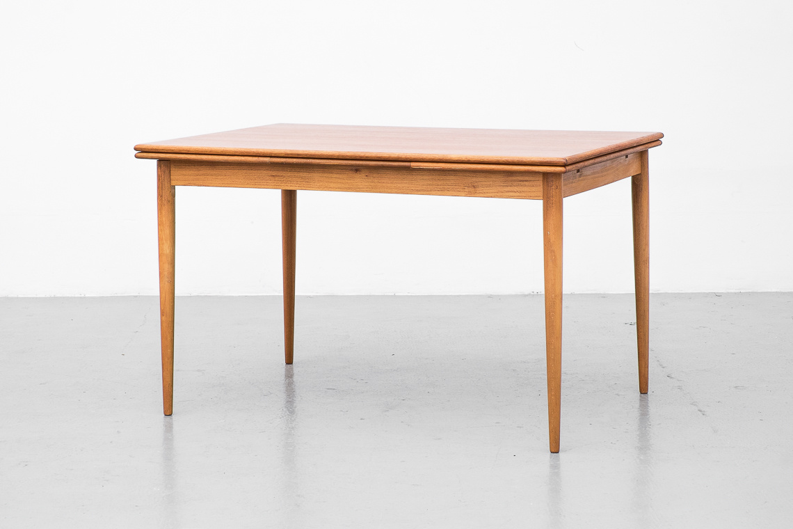 Danish Teak Extendable Dining Table