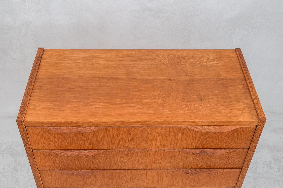Mid-Century Danish Oak Small Chest of Drawers