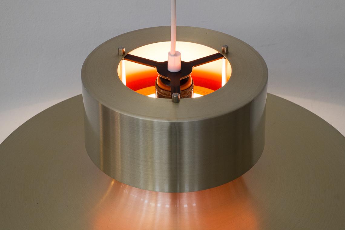 Danish aluminium gold hanging lamp by Lyskaer Belysning