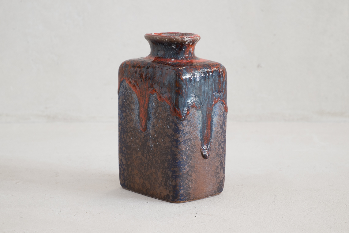 West German Pottery Vase Fat Lava by Gräflich Ortenburg