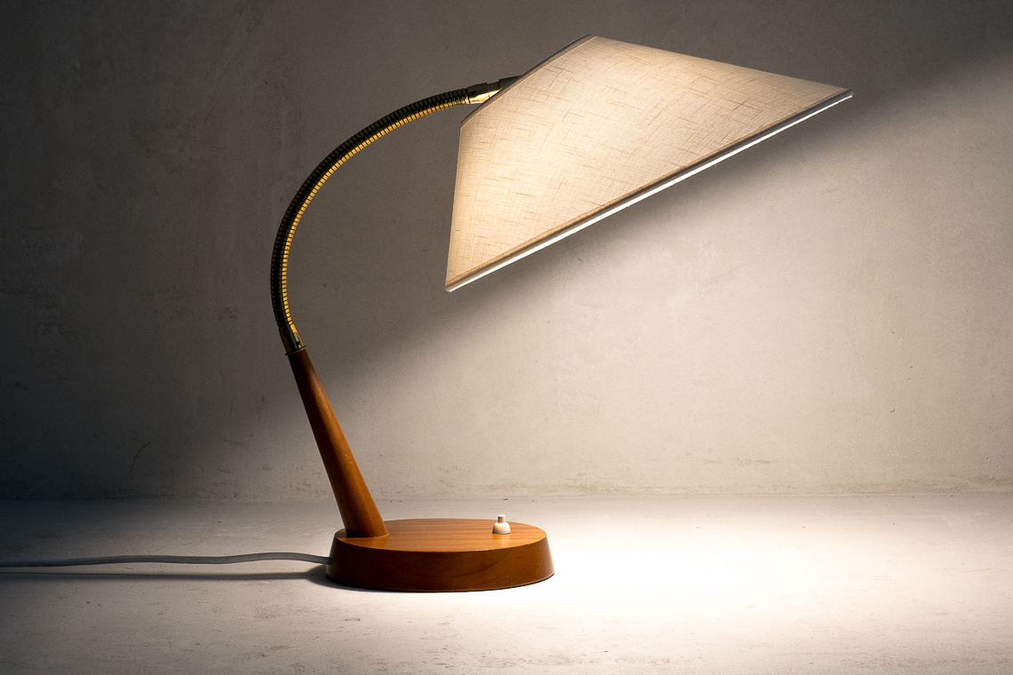 Mid-Century Swiss Table Lamp from Temde