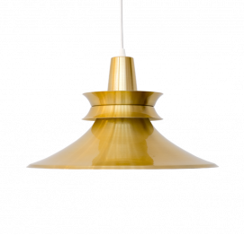 ALUMINIUM GOLD PENDANT LIGHT BY R. VAN INGEN