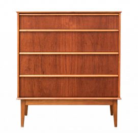 AUSTINSUITE LONDON TEAK TALL CHEST OF DRAWERS