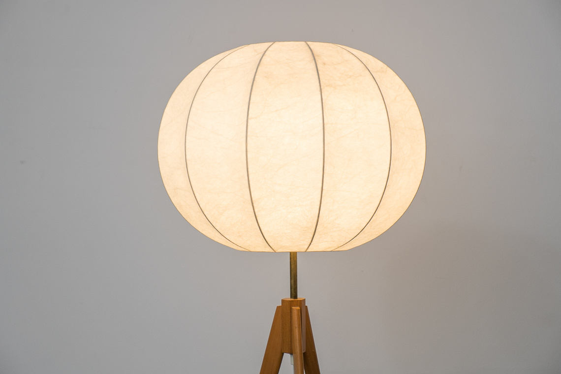 COCOON Tripod FLOOR LAMP BY SALVO GOLD W. Germany