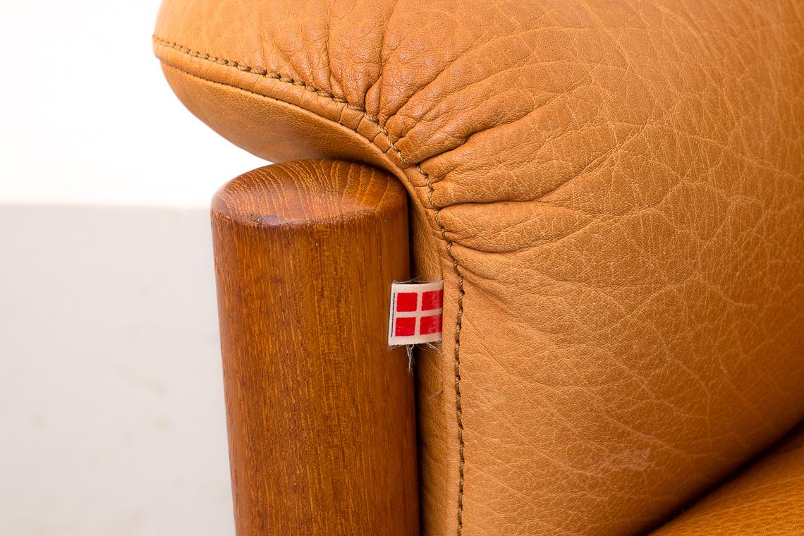 Leather Danish Sofa by  Skippers Furniture