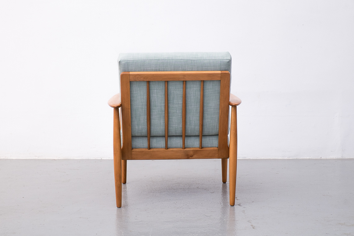 Mid-Century SCANDINAVIAN Beech Easy Chair