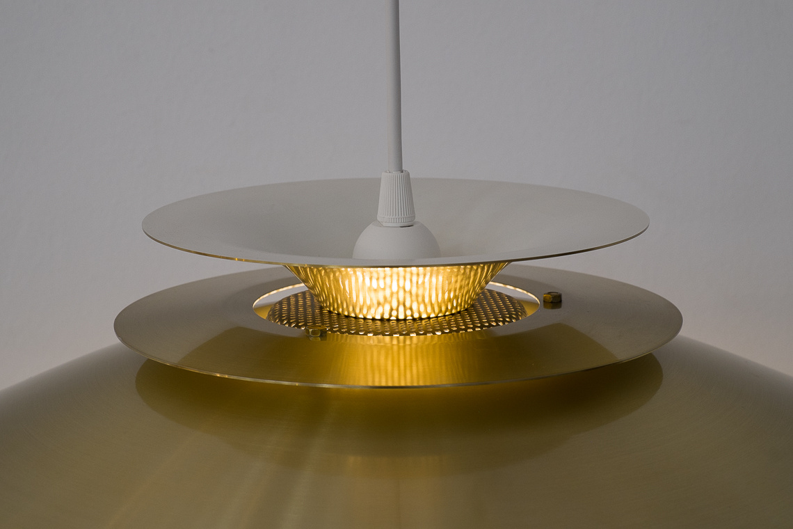 SUSPENSION GOLDEN LAMP VERONA FROM JEKA