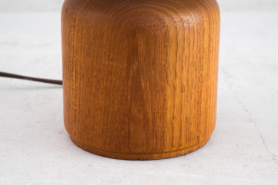 SOLID TEAK Table Lamp Danish Design By Kirk Copenhagen
