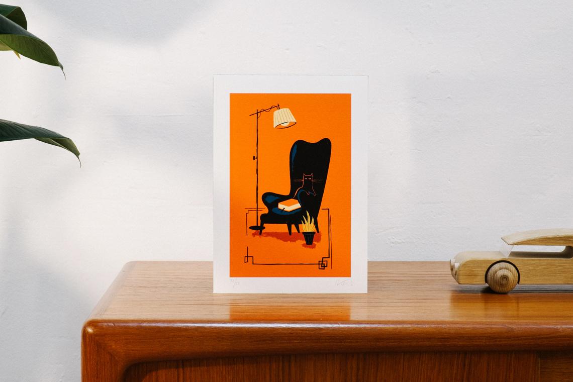 Art Print KATUA by Iker Ayestaran