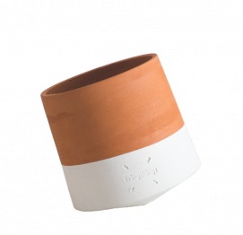ROLLING FLOWER POT Voltasol BABY White