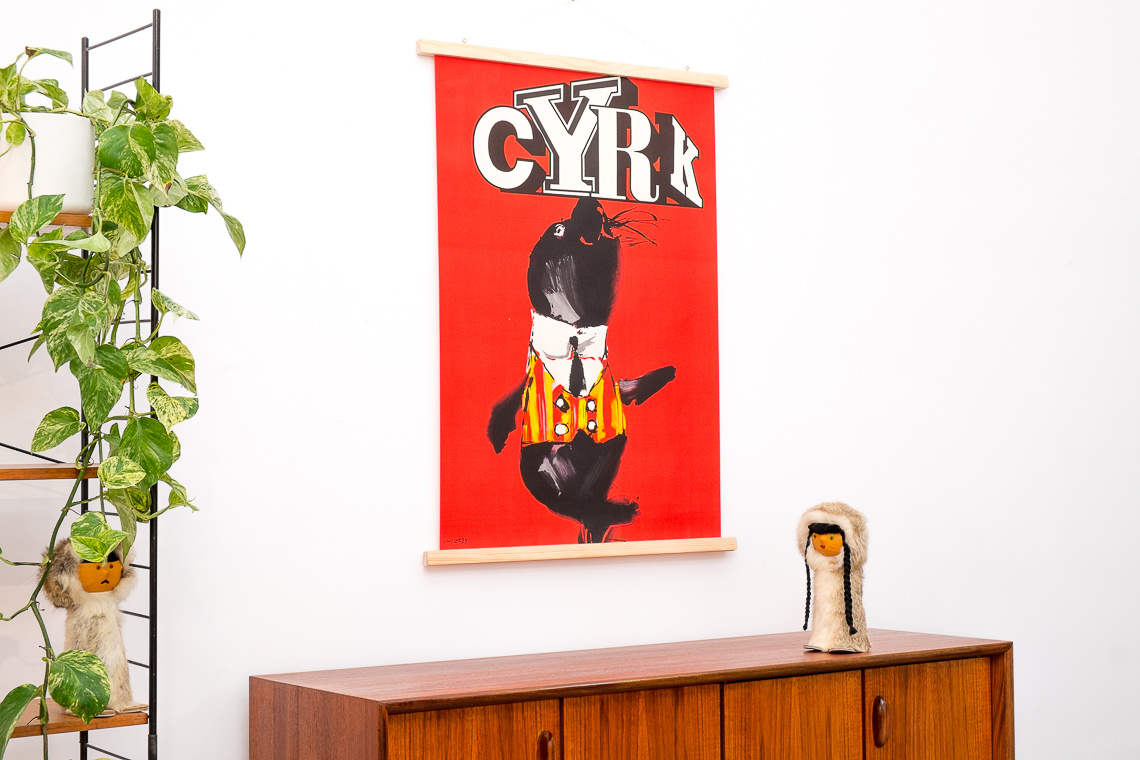 ORIGINAL cyrk Polish poster framing Designed by Waldemar Swierzy