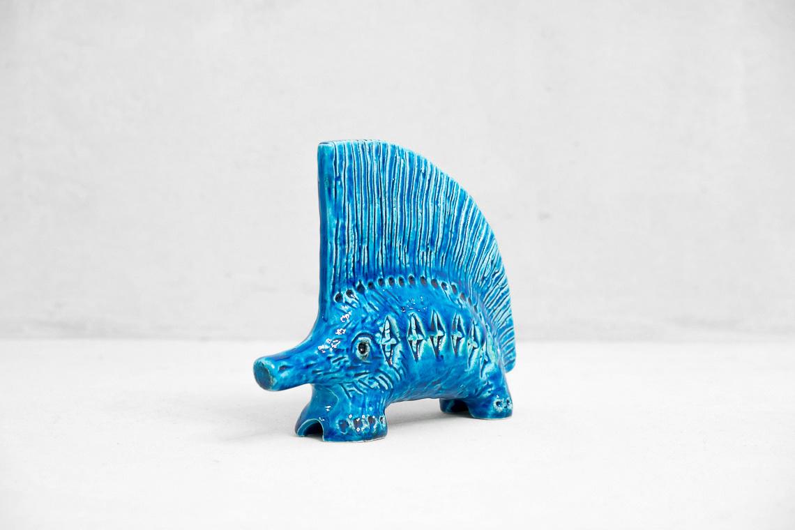 CERAMIC hedgehog FROM RIMINI BLUE SERIES BY ALDO LONDI FOR BITOSSI