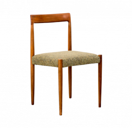 Set of four Lübke dining chairs