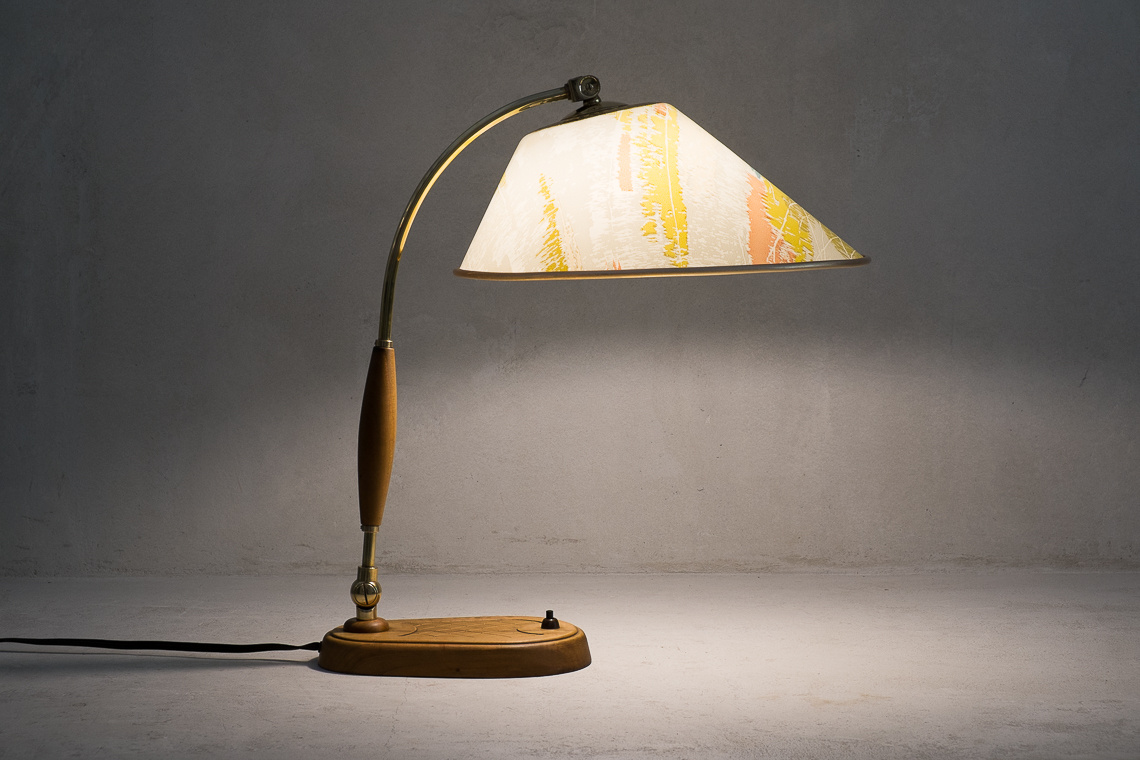mid century Modern TABLE LAMP FROM TEMDE Leuchten