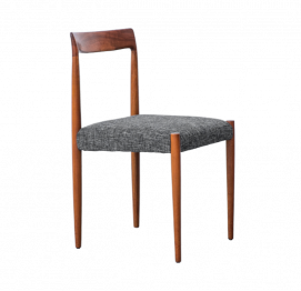 Set of four Lubke dining chairs