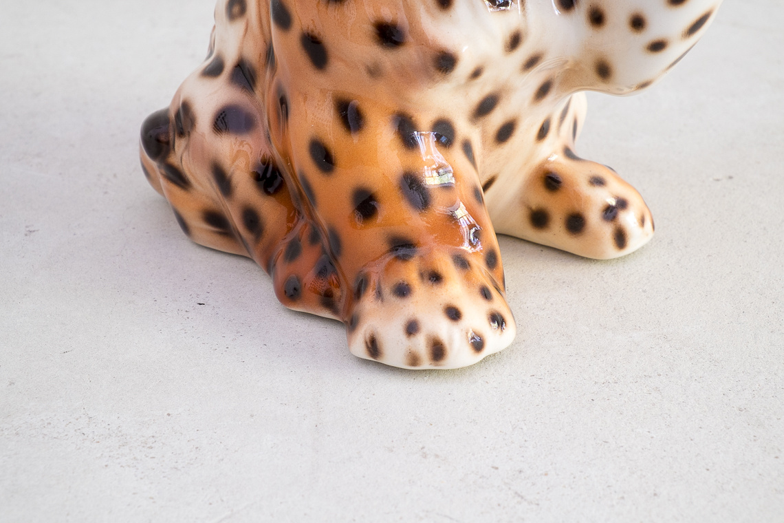 small leopard (20CM) ITALIAN CERAMIC SCULPTURE