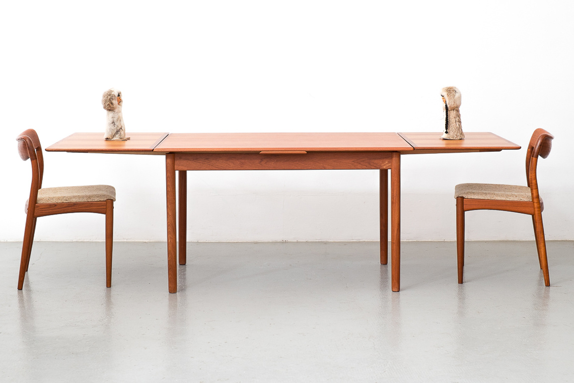 Mid-Century Danish Teak Extending Dining Table