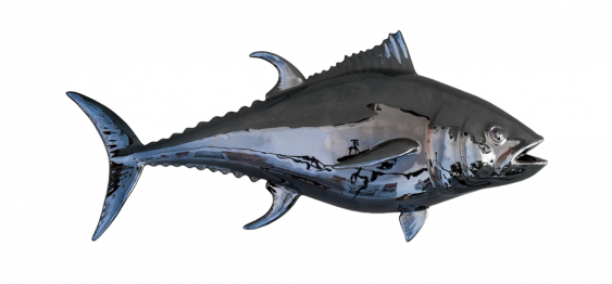 THE BLACKFIN TUNA (38x84) CERAMIC WALL DECOR MADE IN ITALY