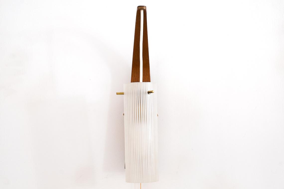 Scandinavian Teak & Glass WALL LAMP