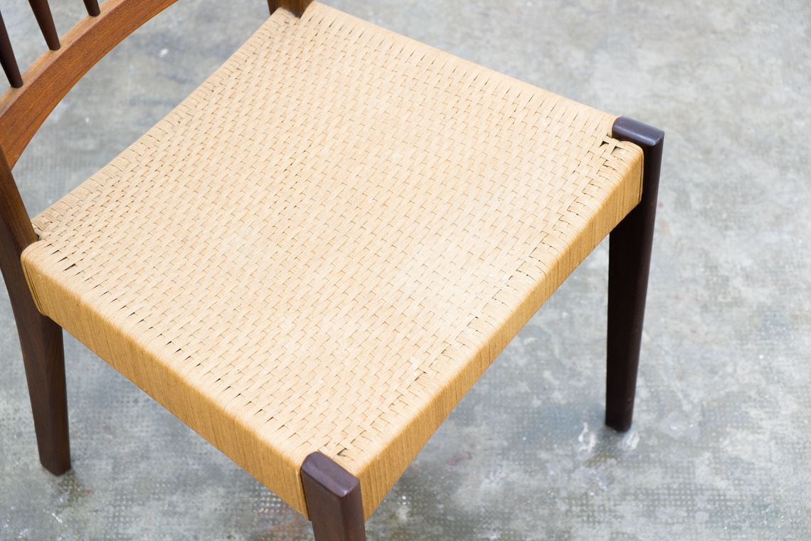 Set of 6 chairs made in denmark