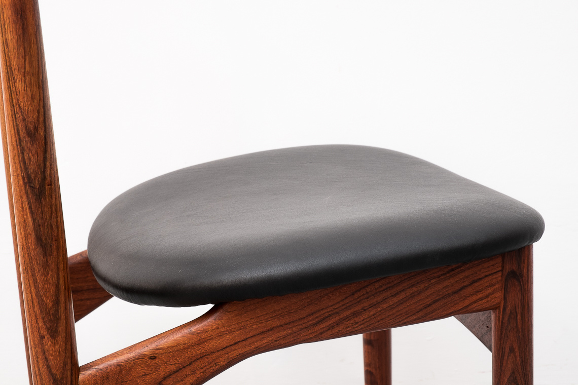 fine rosewood dining chair by Kurt Østervig