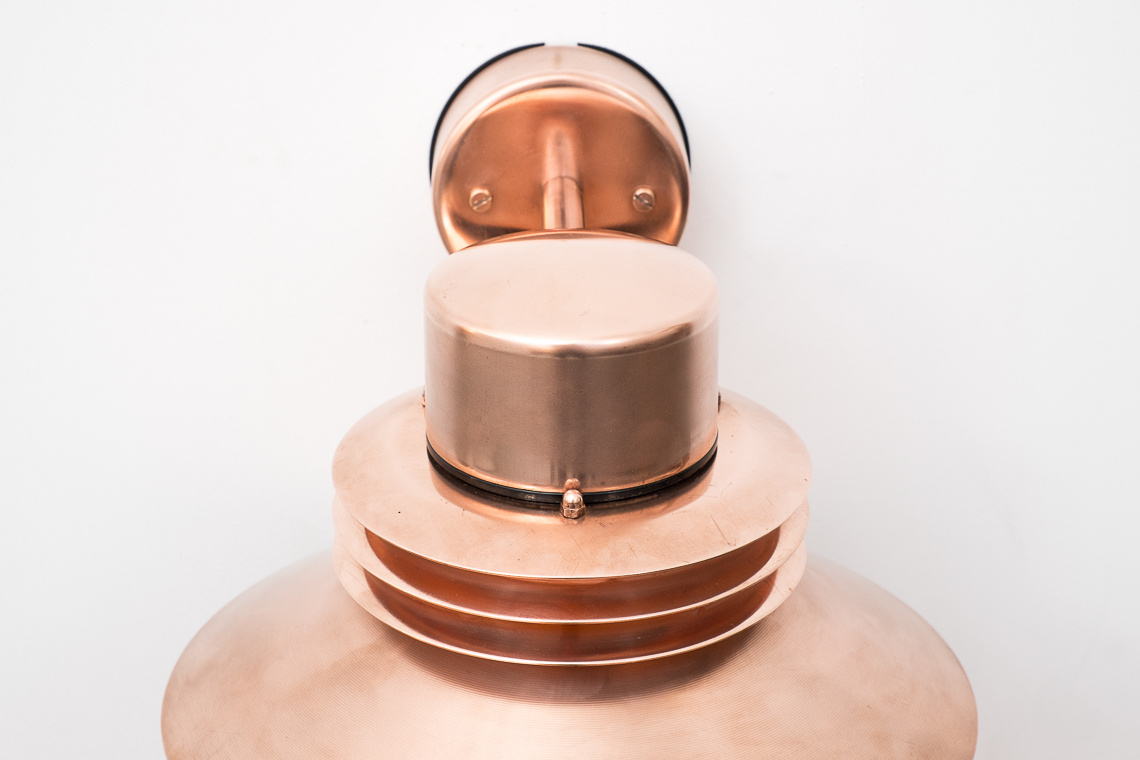WALL LIGHT in massive copper by  Form-light DenmarK
