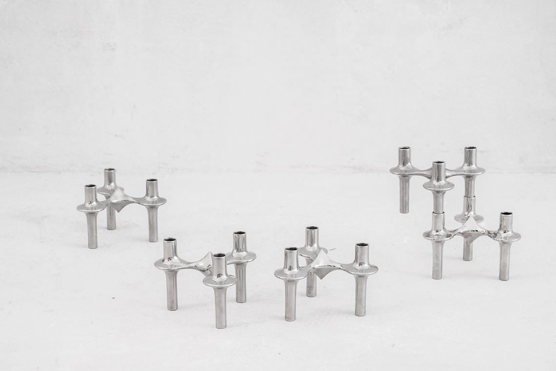 Set of 5 Modular Candelabra by Nagel & Stoffi for BMF
