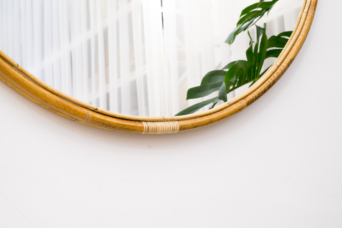 Wilson mirror XL in rattan