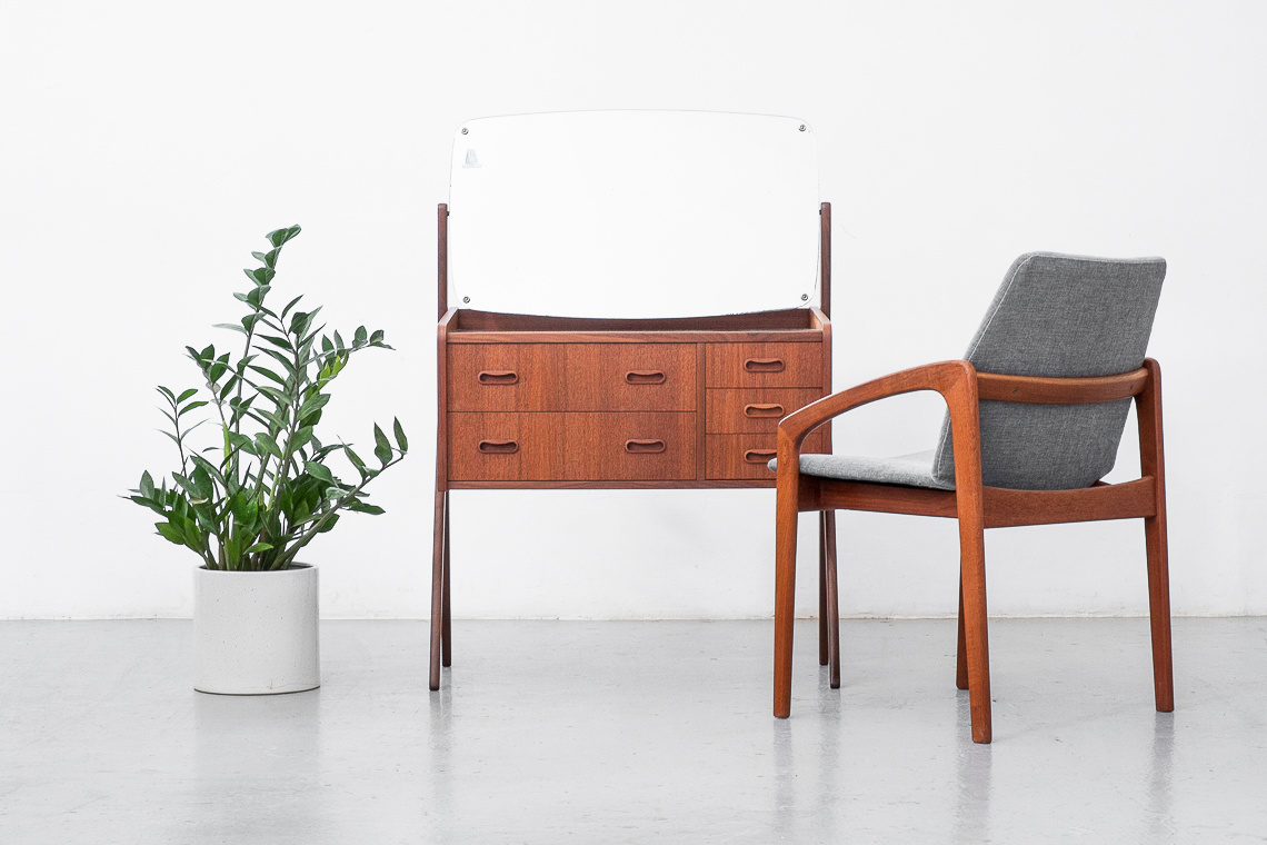 Danish Teak Vanity BY A.G. Spelj Kobberskyttet