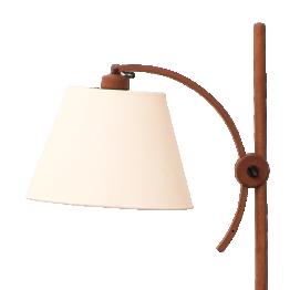 Adjustable Teak Floor Lamp by Domus Denmark