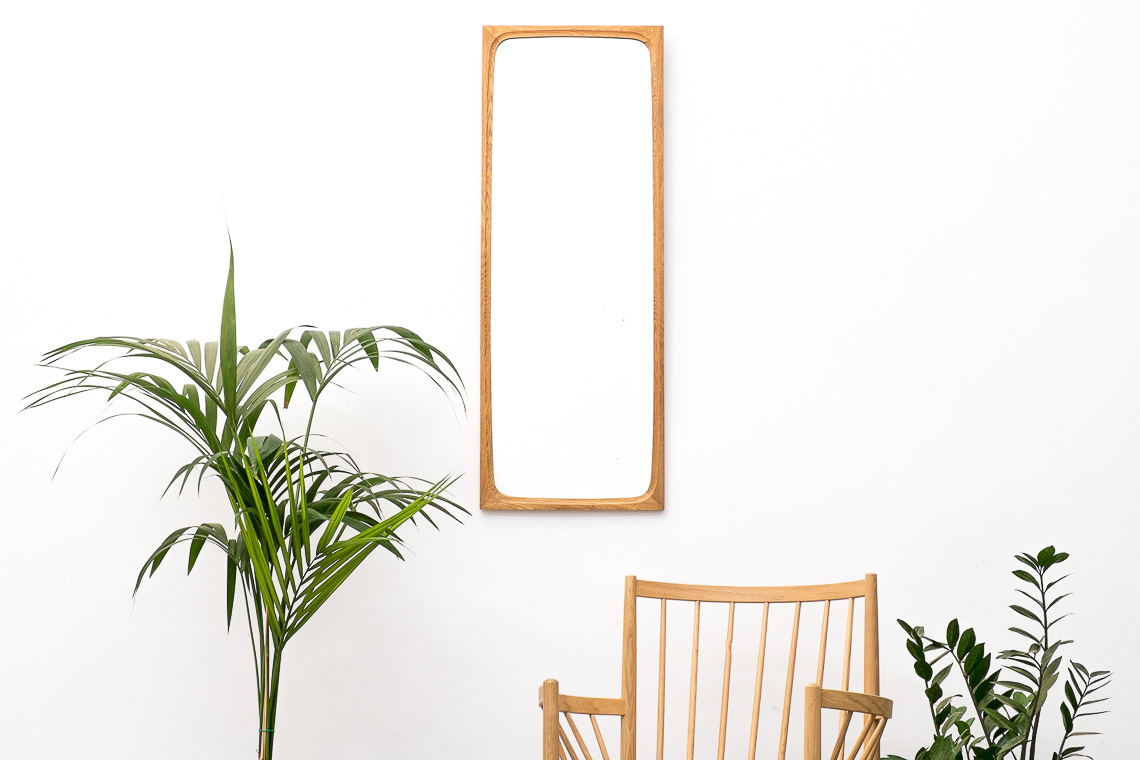 Mid-Century Danish oak large Mirror