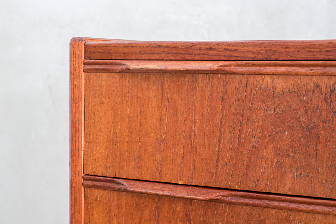 Danish chest of four drawers