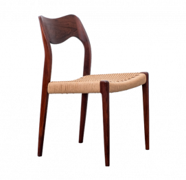 SET OF 4 CHAIRS MODEL 71 IN RIO ROSEWOOD BY NIELS O. MØLLER