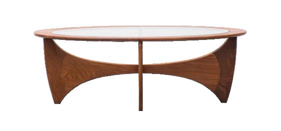 Mid Century Modern G Plan Oval Teak Astro Coffee Table