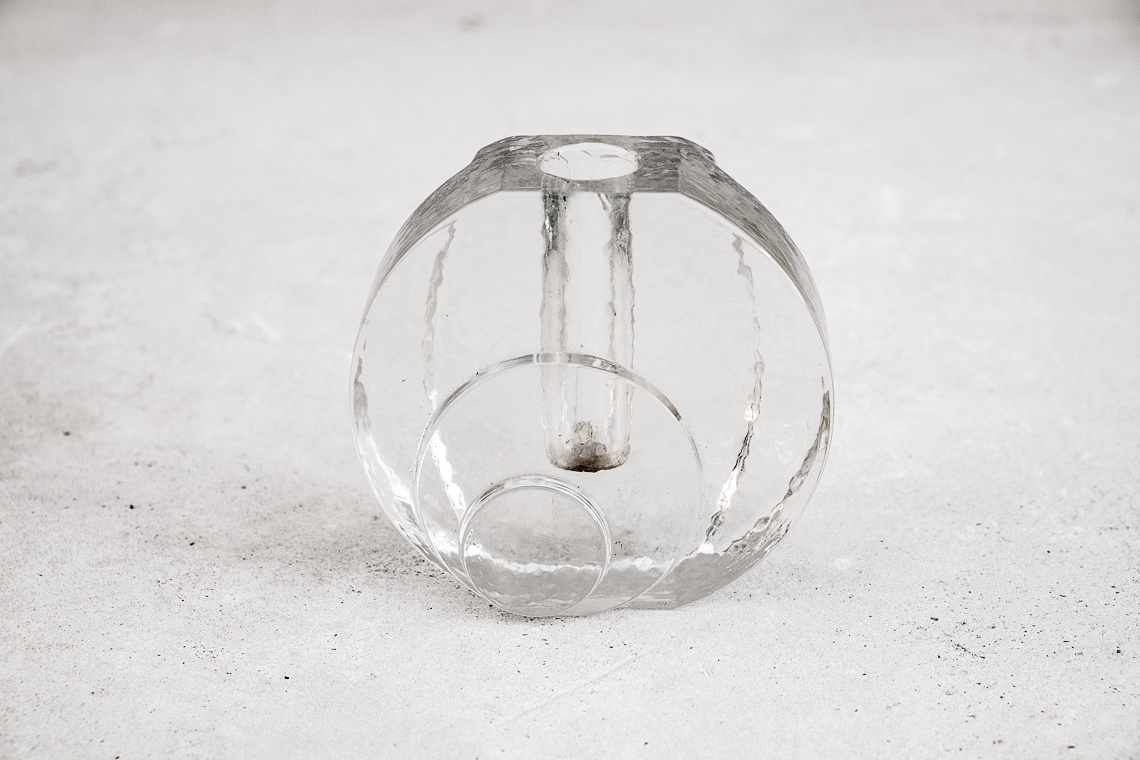 Glass Bud Vase by Walther Kristall Glas