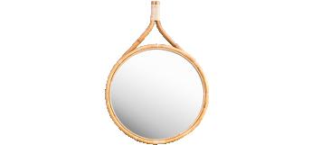 Wilson mirror medium in rattan