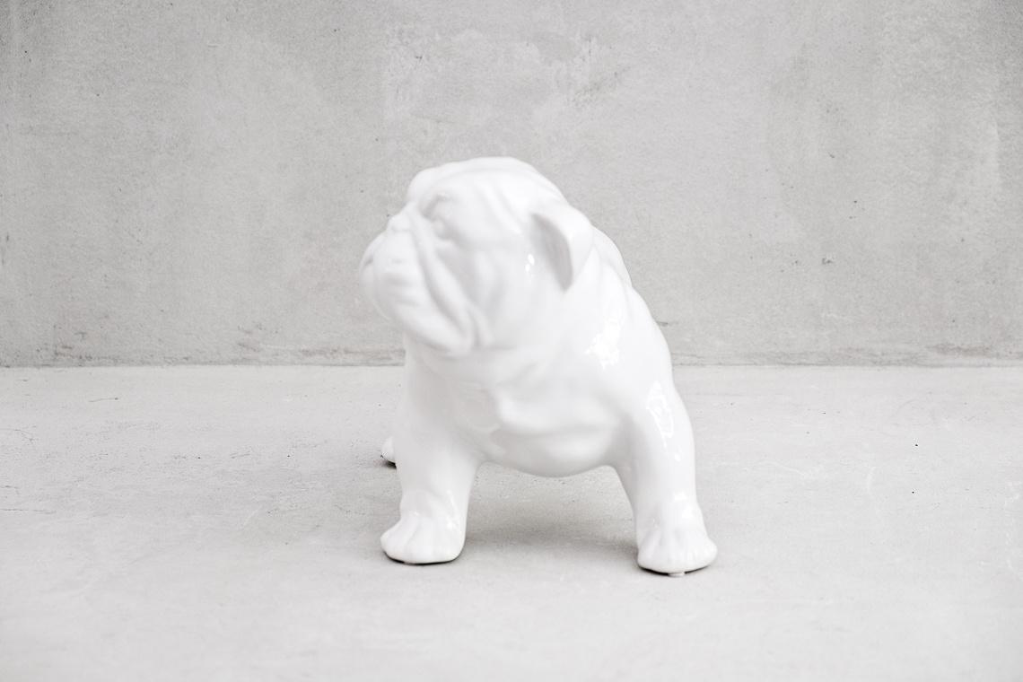 Puppy English Bulldog (22X34CM) ITALIAN CERAMIC SCULPTURE