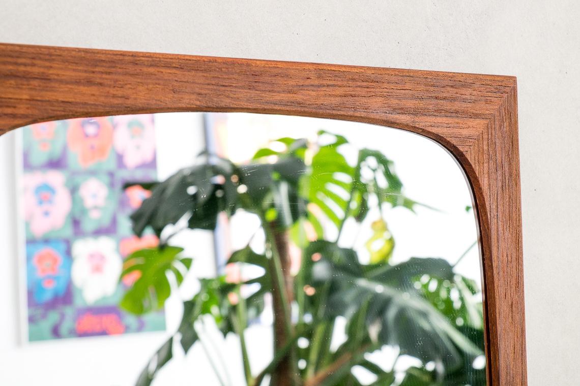 Mid Century Teak Wall Mirror made in denmark