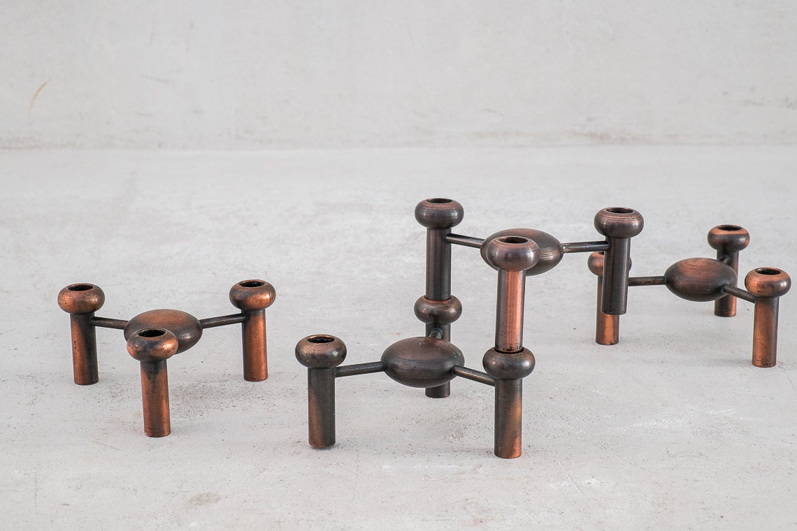 SET OF 4 MODULAR CANDLE HOLDERS