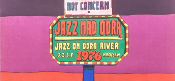 Original Polish poster Jazz on Odra River '76 by Jan Sawka
