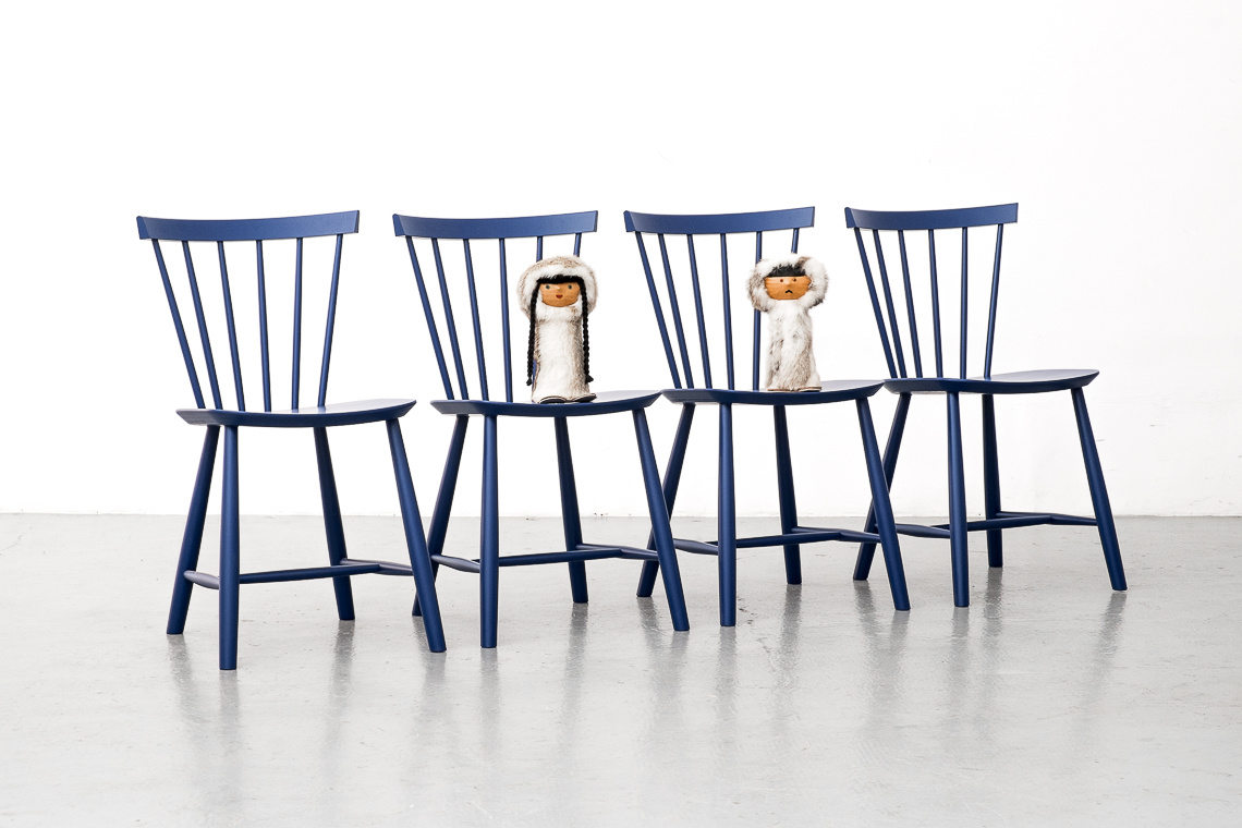 SET 4 CHAIRS J46 BY POUL VOLTHER FOR FDB MØBLER