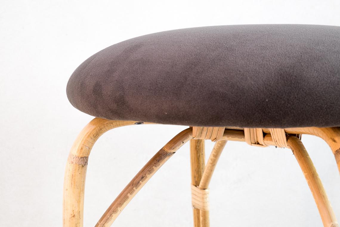 Rattan stool by Miquel Milà for Trenat