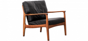Leather Easy Chair by Eugen Schmidt for Soloform