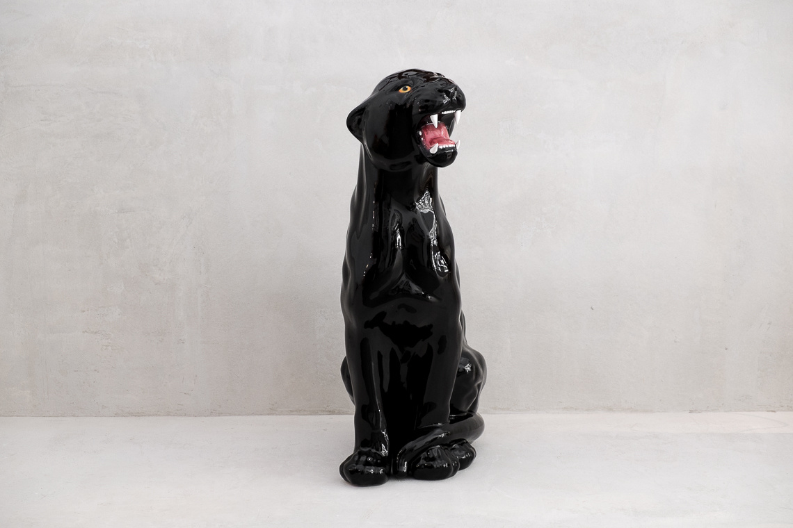 HUGE Ceramic Black Panther (86CM) MADE IN Italy