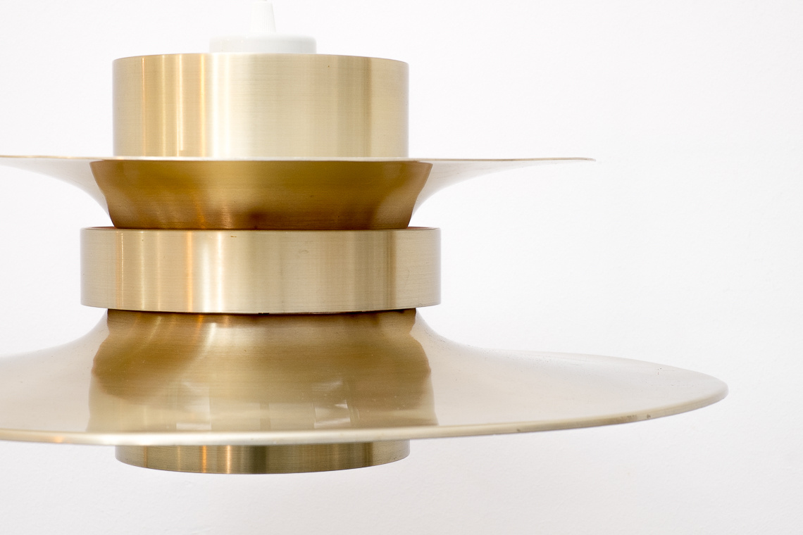Large aluminium gold Pendant Light by Lyskaer Belysning