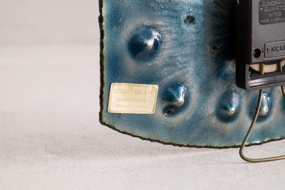 Reloj de Franco Bastianelli para Studio Cellini Rame D'Arte Italy