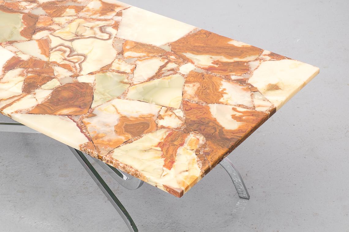 MESA DE CENTRO EN mosaico de piedra natural DE APN W. GERMANY