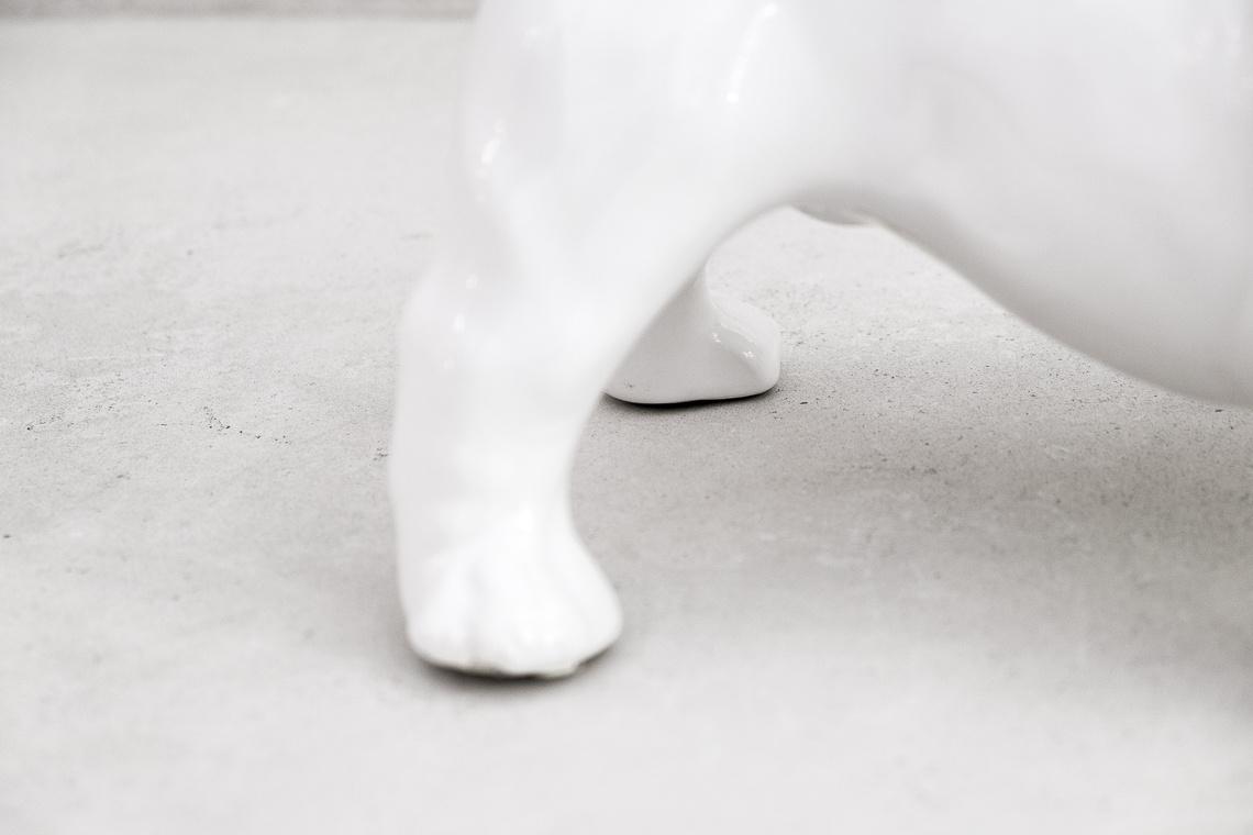Cachorro BULLDOG INGLÉS ESCULTURA (22X34CM) CERAMICA MADE IN ITALY
